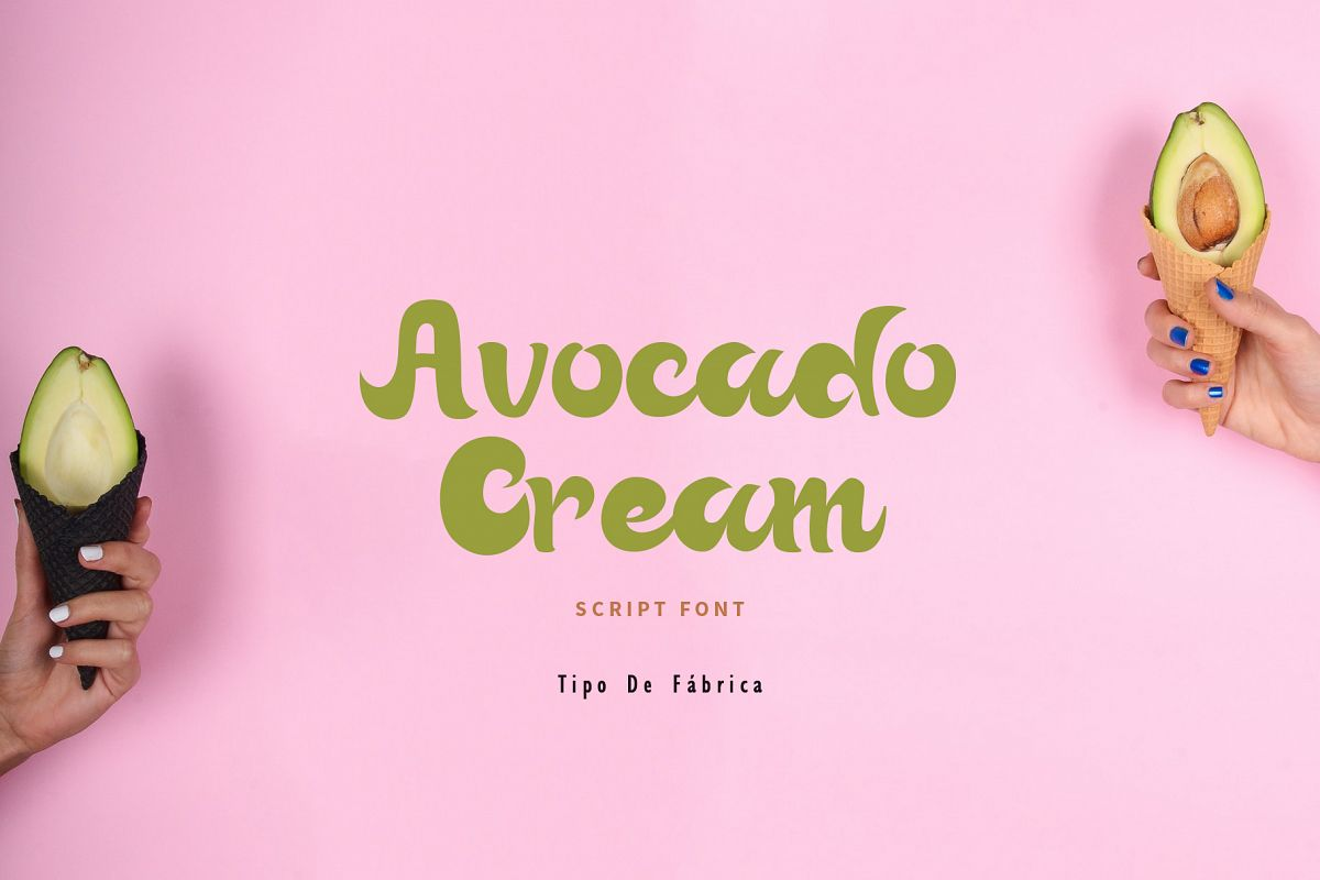 Avocado Cream || Avocado Cream Rough Font example image 1