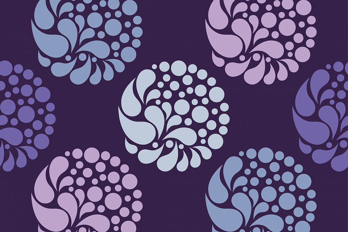 Polka dot seamless pattern. Drops and points. Vector illustration.  example image 1