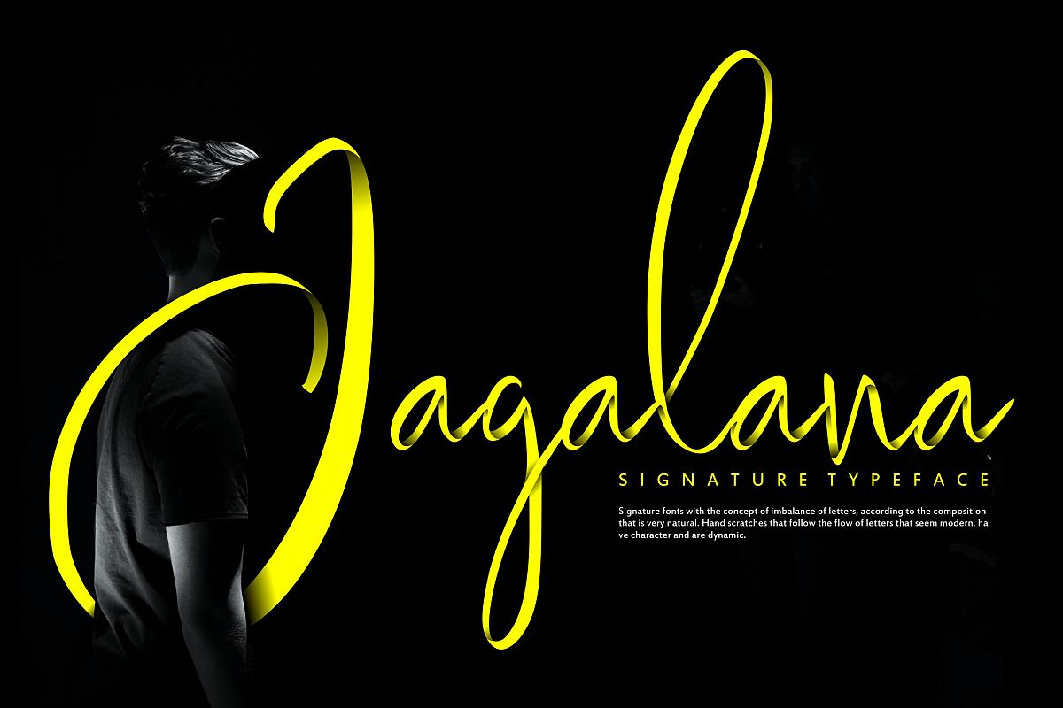 Jagalana   Signature Typeface example image 1