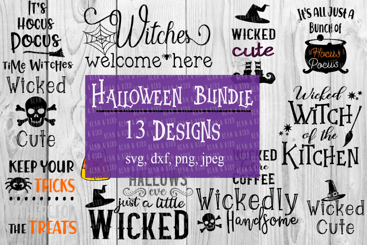 Halloween Bundle Fall Cut file example image 1