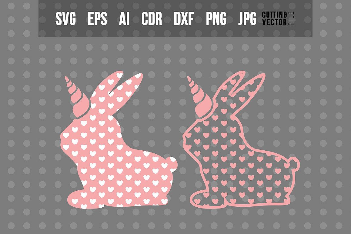 Bunny with Heart shaped Decoration - Cut File for Crafters example image 1