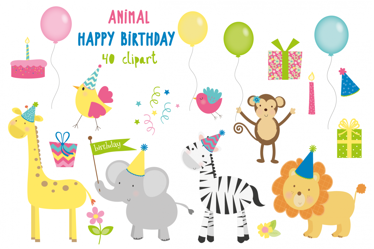 Happy Birthday Animals example image 1
