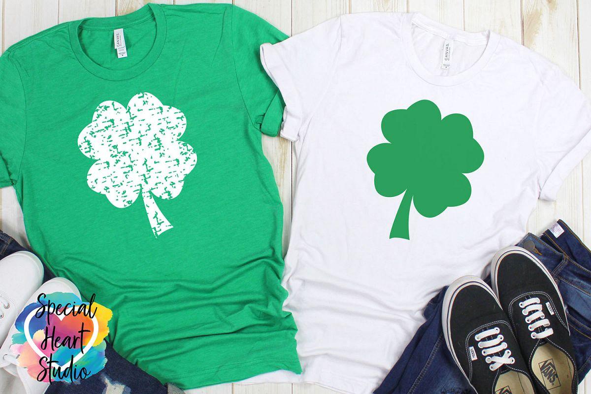 Grunge Shamrock SVG - A fun St. Patricks Day cut file example image 1