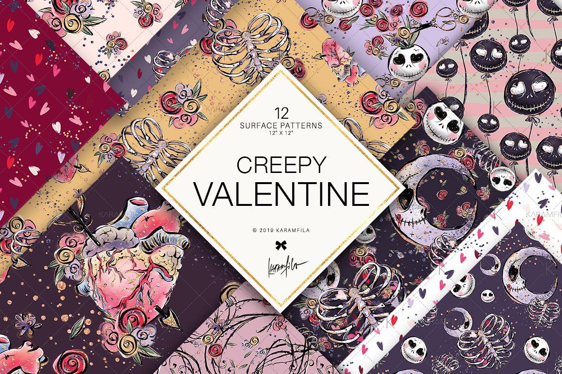 Creepy Valentine's Day Patterns example image 1
