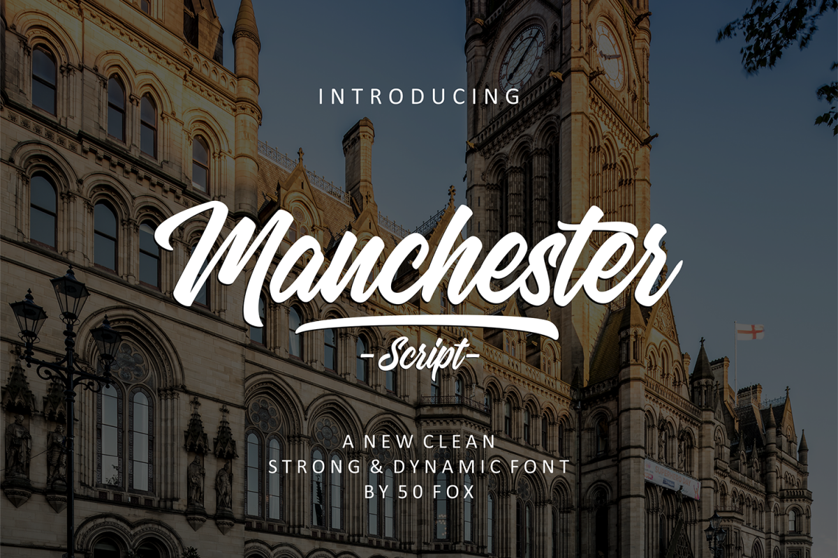 Manchester Script Font example image 1