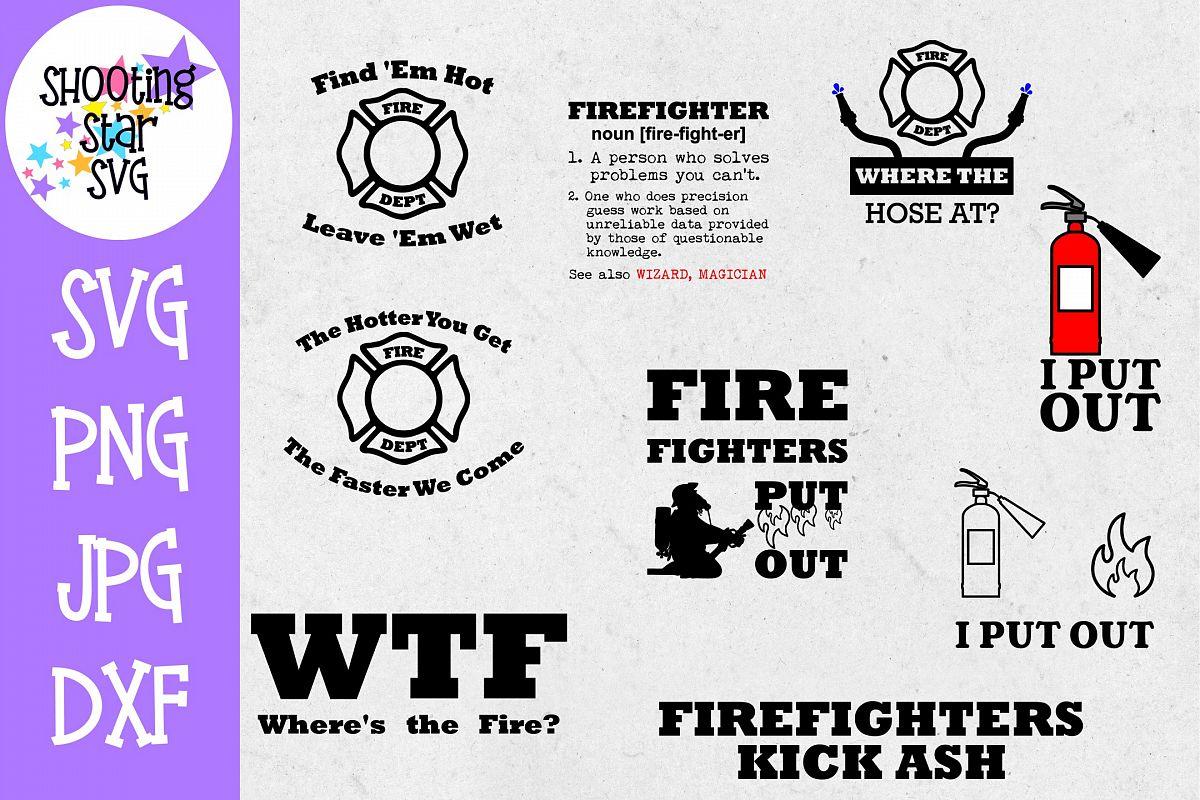 Firefighter Shirt SVG Bundle - Firefighter SVG - Fire SVG example image 1