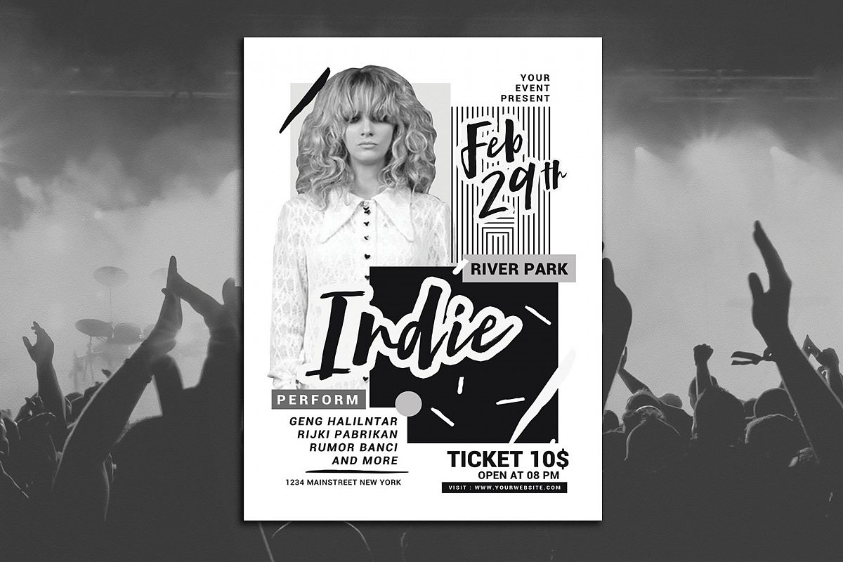 Abstract Indie Music Flyer example image 1