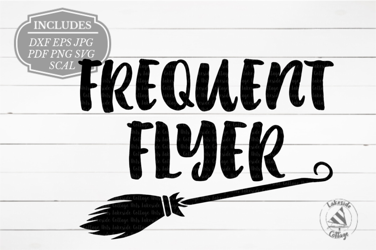 Frequent Flyer Halloween Witch SVG Design example image 1