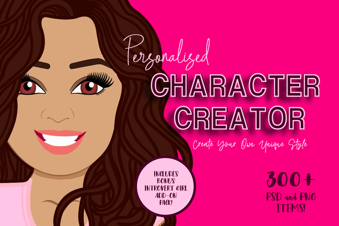 Personalised Character Creator | Avatar | Female Clip Art example image 1