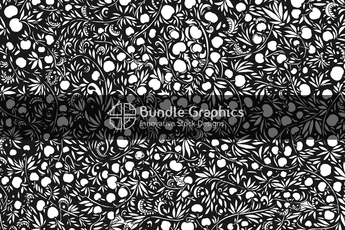 Apple Plants Background - Handmade Ink Graphics example image 1