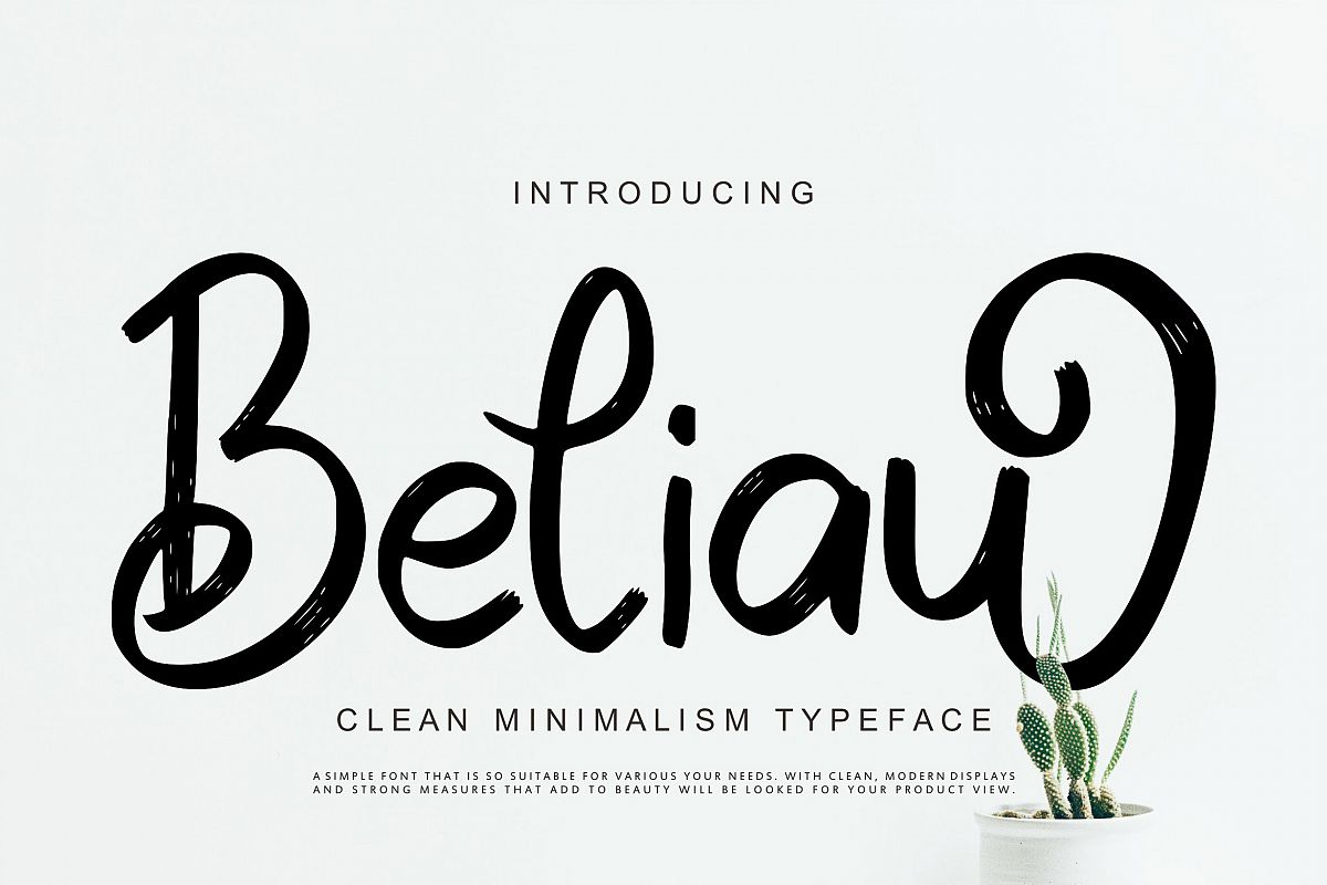 Beliau   Clean Minimalism Typeface example image 1
