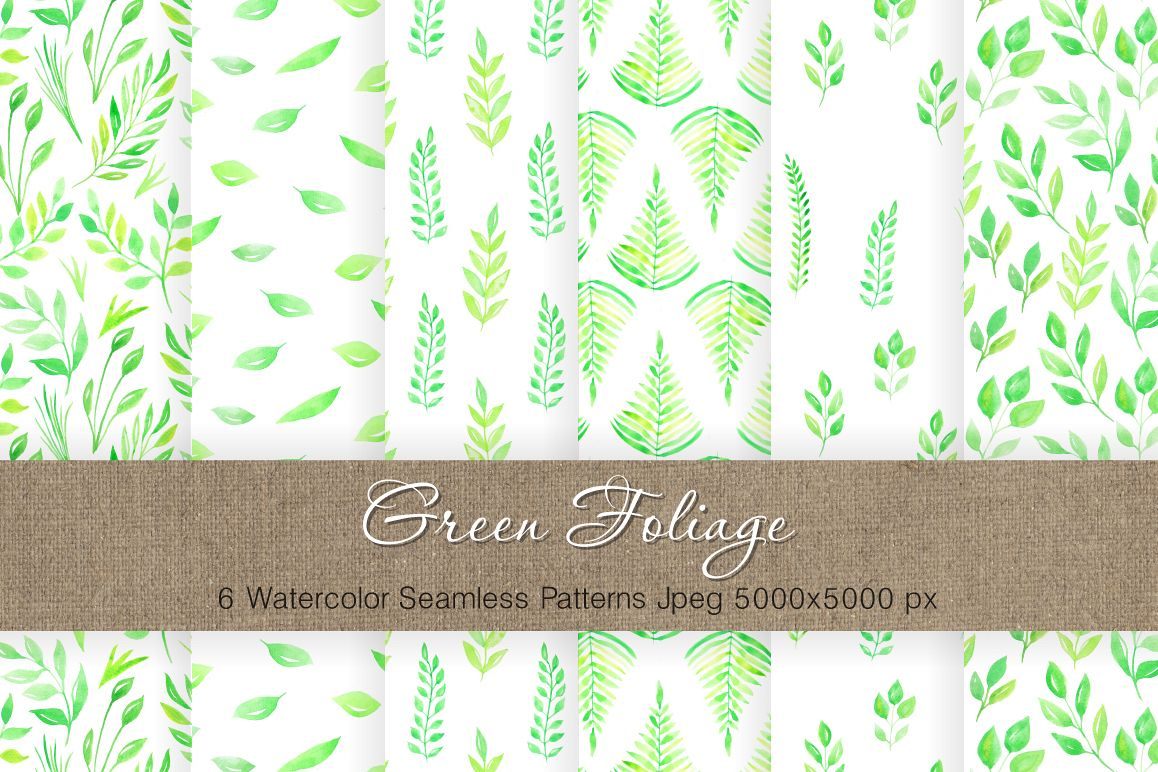 Watercolor Floral Patterns Vol.3 example image 1