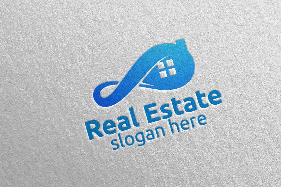 Real Estate Infinity Logo Design 36 example image 1