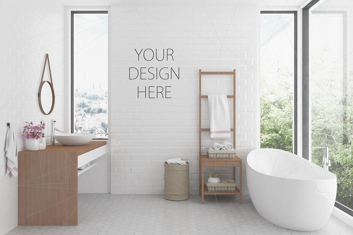 Interior mockup bundle - bathroom background example image 1
