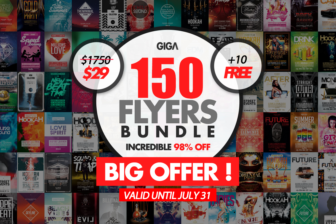 150 Giga Flyer Template Bundle 10 Freebies