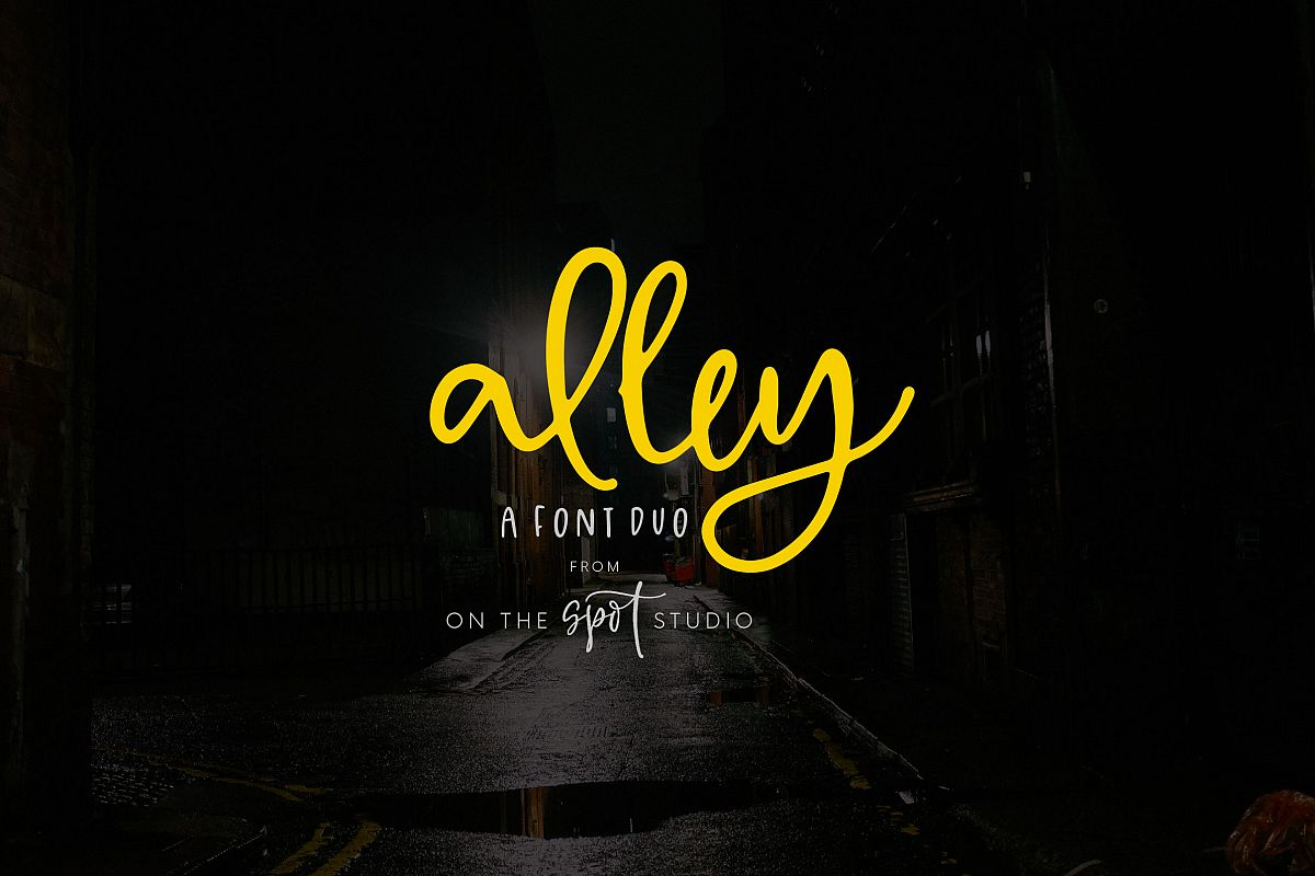 Alley Font Duo example image 1