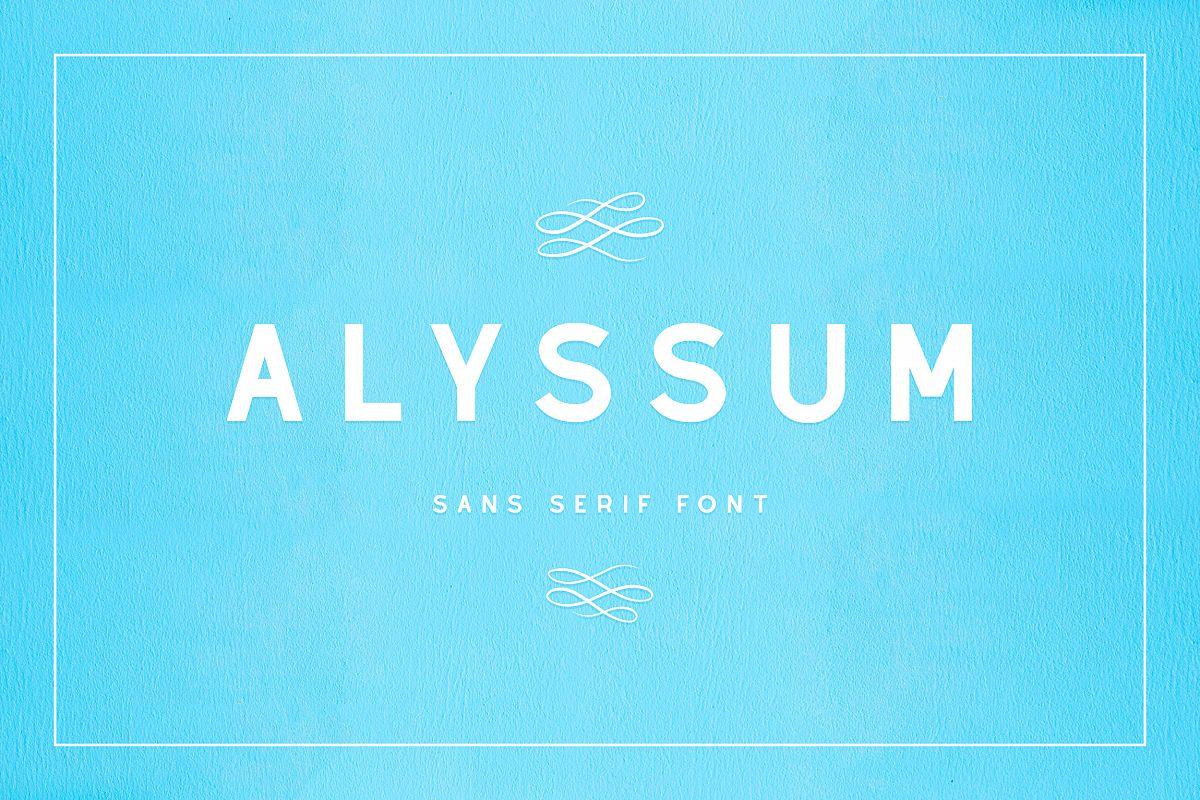 Alyssum - Sans Serif Font example image 1