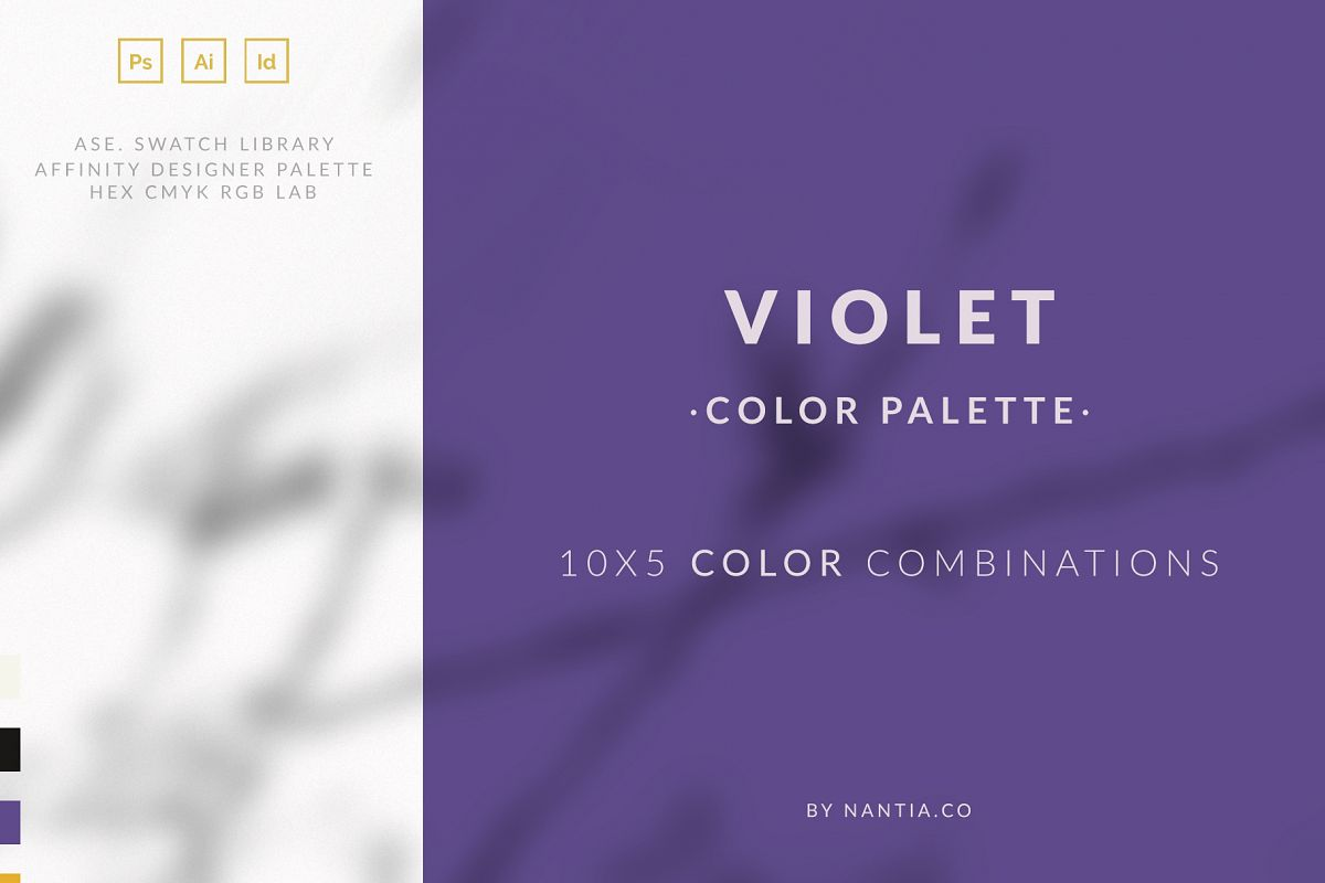 Violet Color Palette collection example image 1