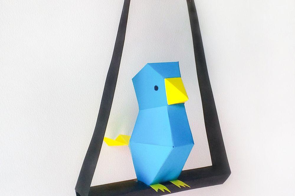 DIY Paper Bird - 3d papercraft example image 1