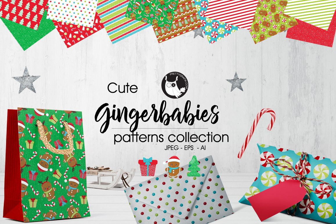 GINGER BABIES, digital papers example image 1