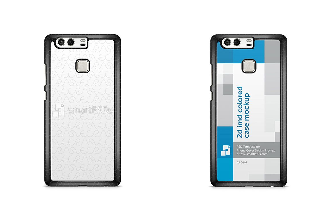 Huawei P9 2d IMD Colored Mobile Case Design Mockup 2016 example image 1