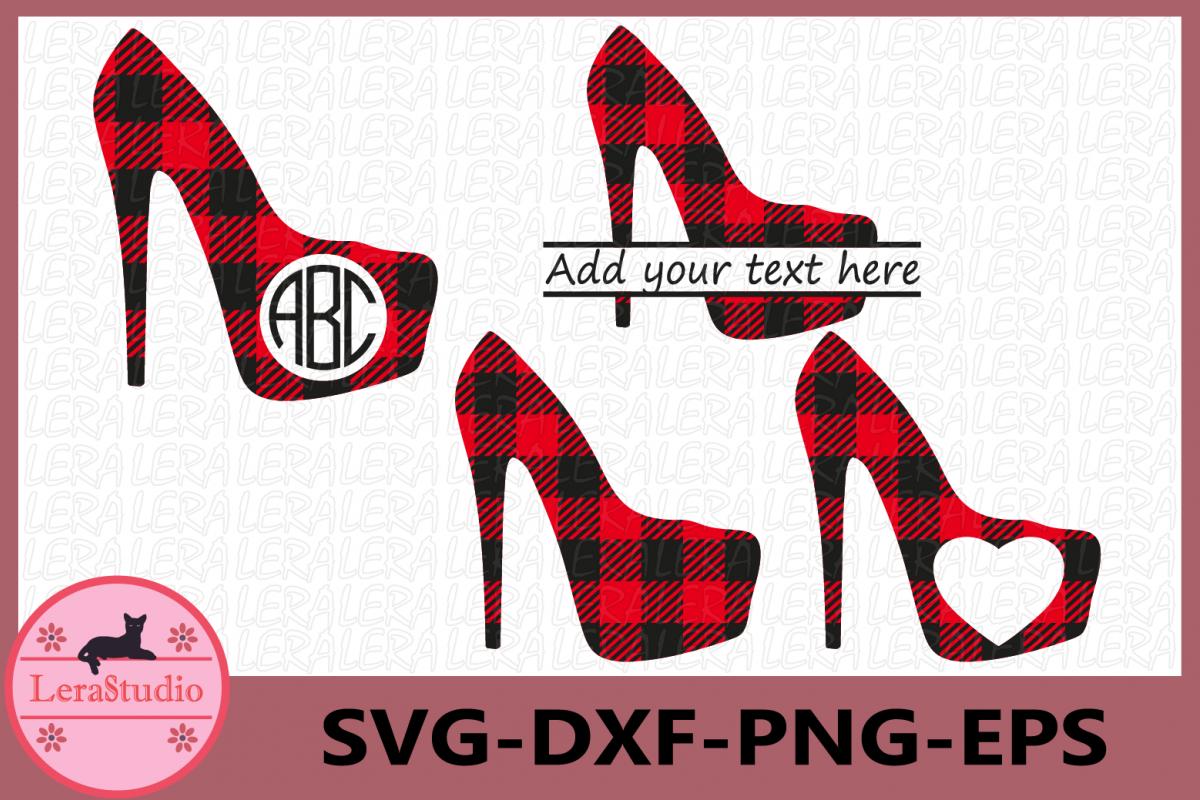 Heels Buffalo Plaid SVG, High heels Svg, Stiletto Heels Svg example image 1