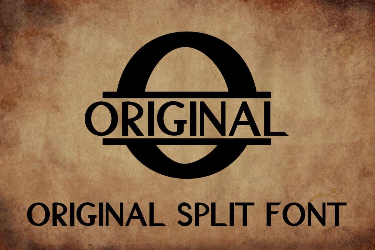 Original Split Font - A Monogram Font example image 1