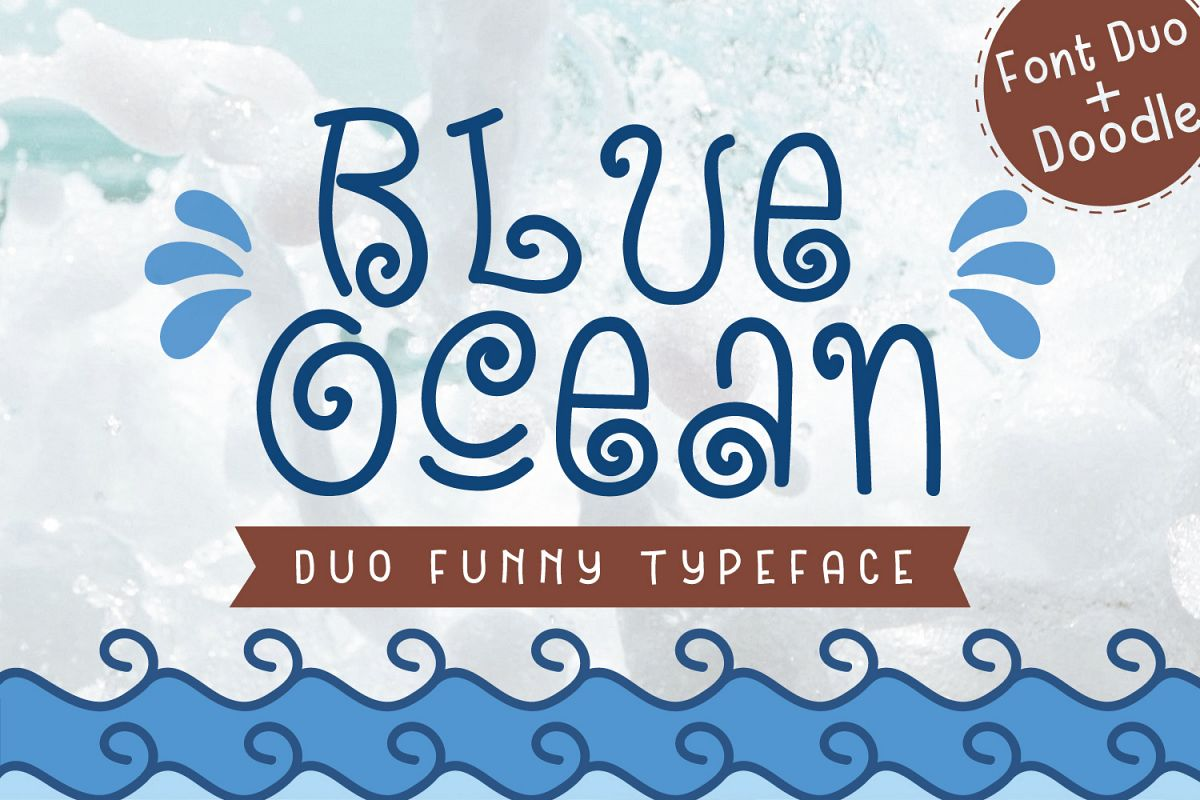 Blue Ocean - Cute and Funny Font example image 1
