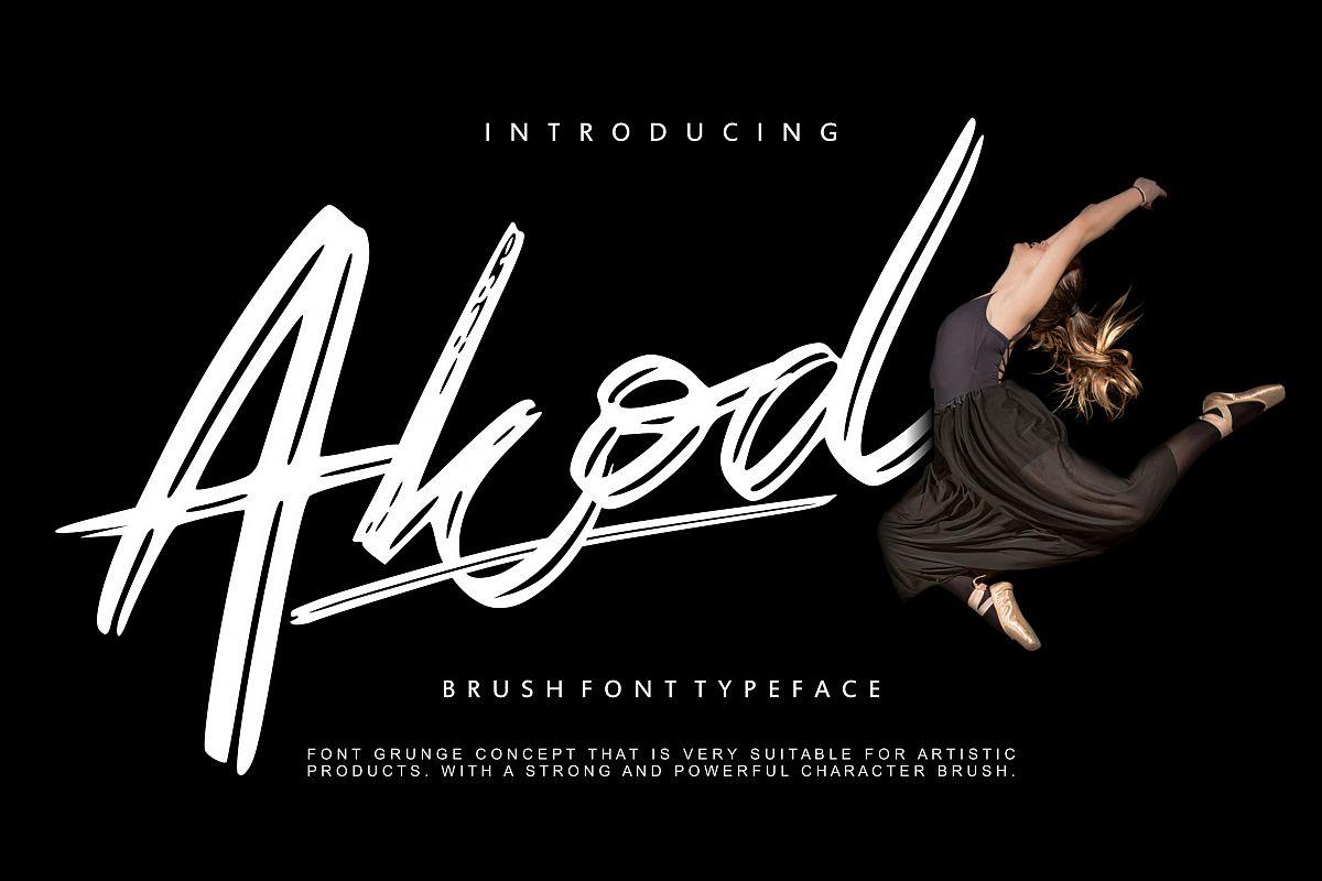 Akod | Brush Script Font example image 1