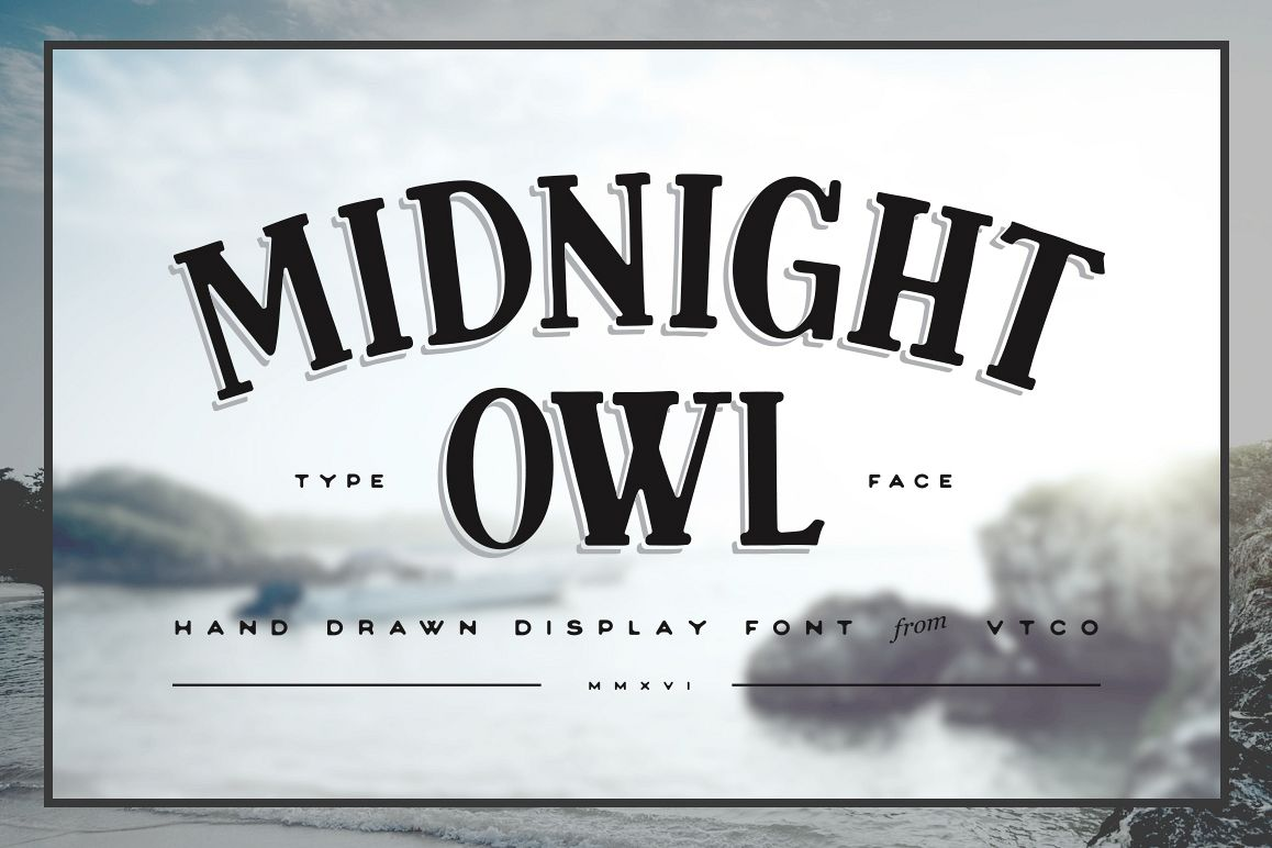 Midnight Owl Display Font example image 1