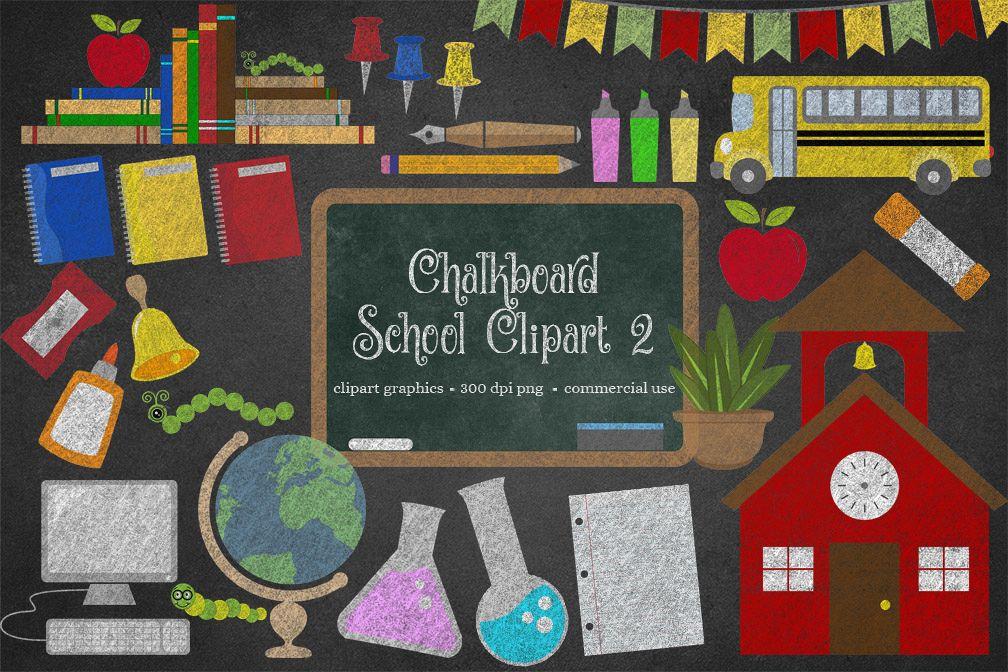 Back to school chalkboard. Clipart