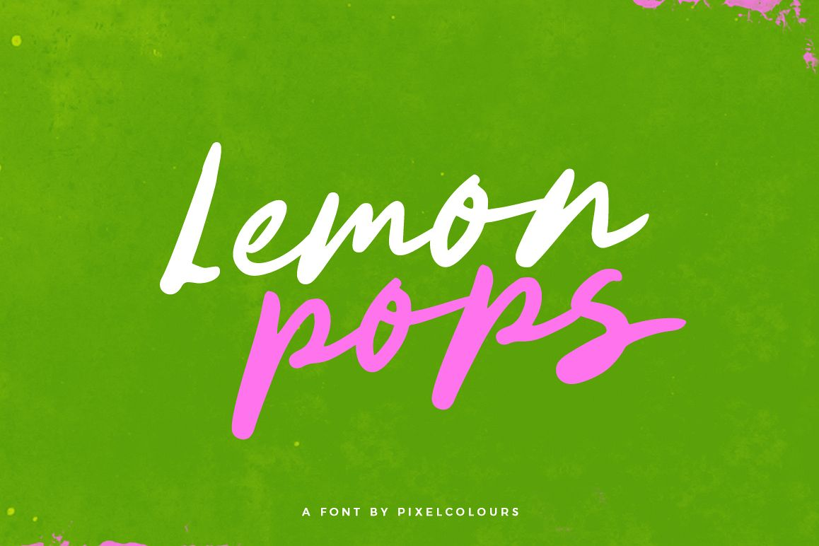 Lemon Pops Hand Drawn Script Font example image 1