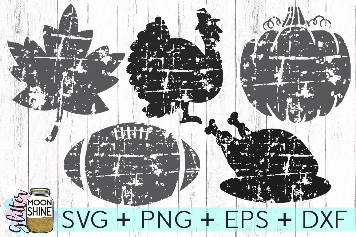 Distressed Fall Bundle SVG DXF PNG EPS Cutting Files example image 1