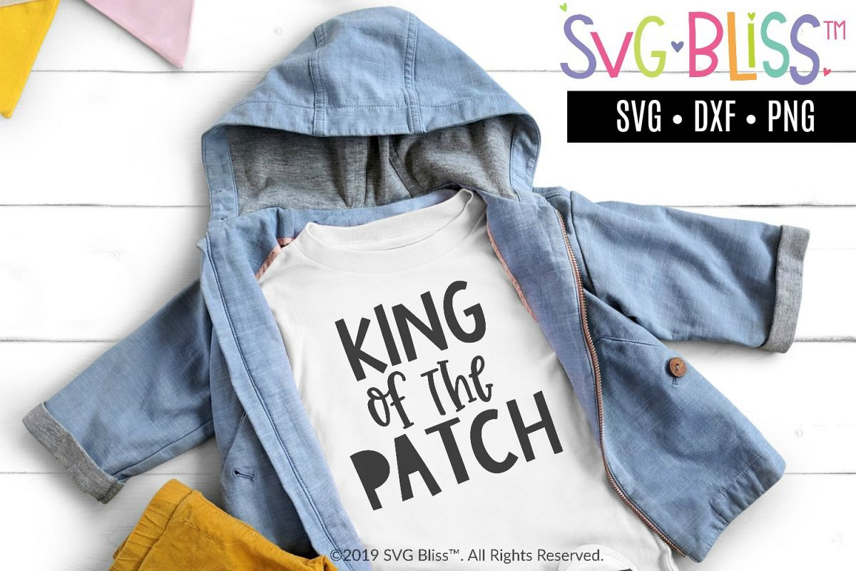 King of the Patch SVG - Pumpkin Patch Fall Cutting File example image 1