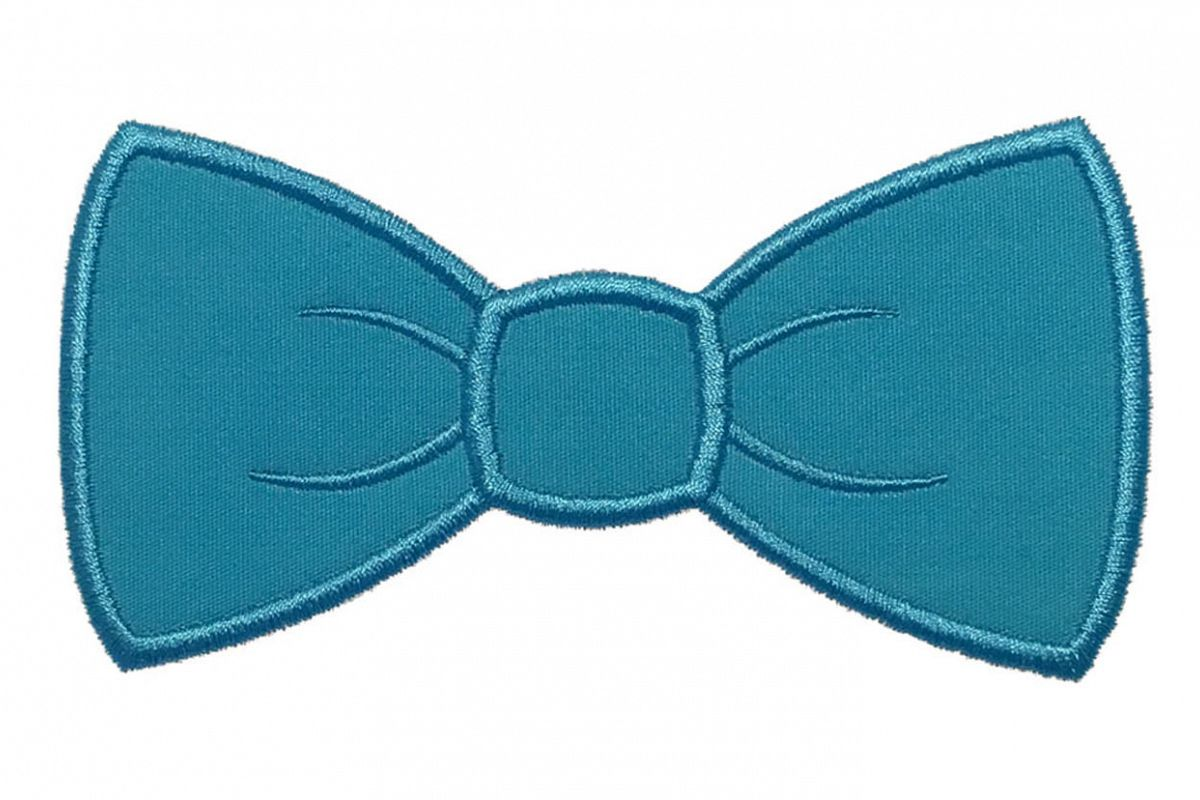 Bow tie machine embroidery applique design