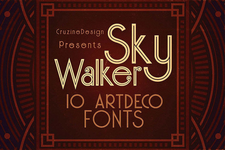 Skywalker - ArtDeco Typeface example image 1