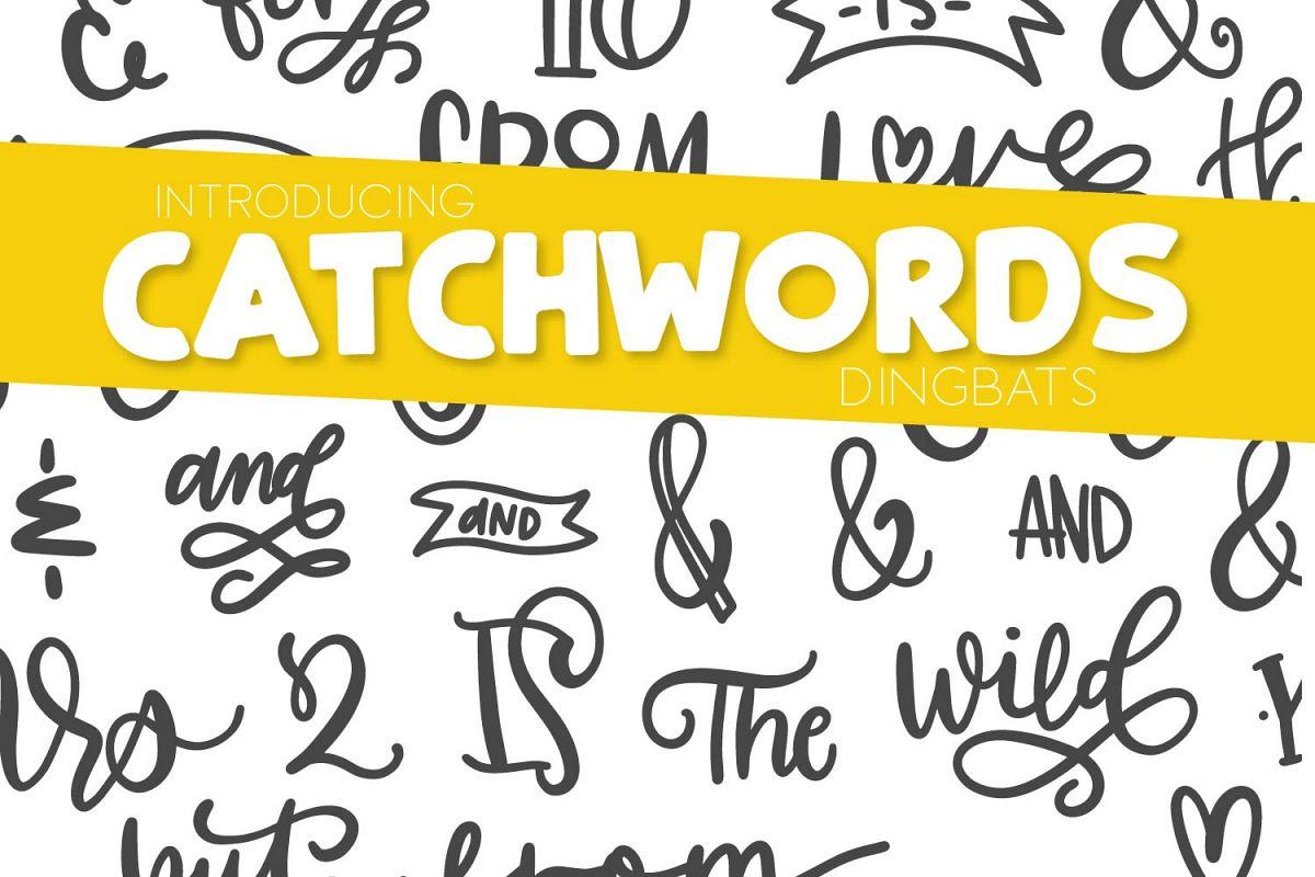 Catchwords & Ampersands - A Dingbat Font example image 1