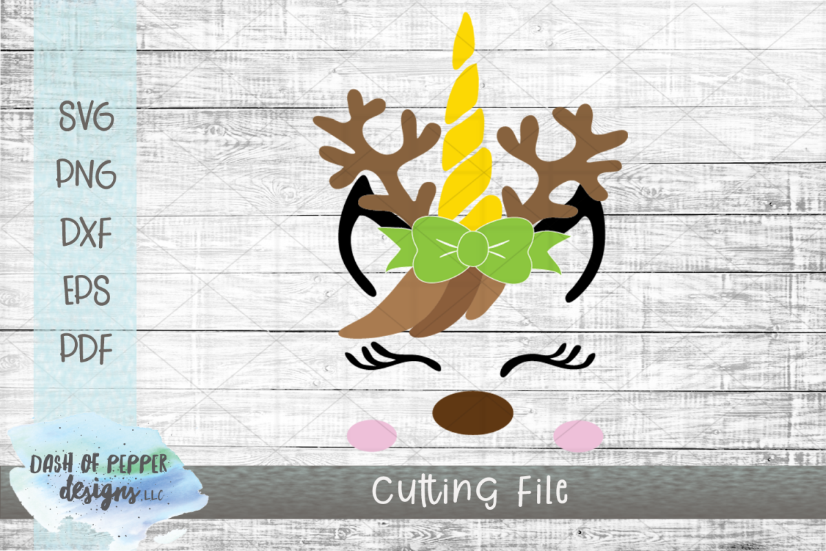 Reindeer Unicorn SVG - A Christmas SVG example image 1