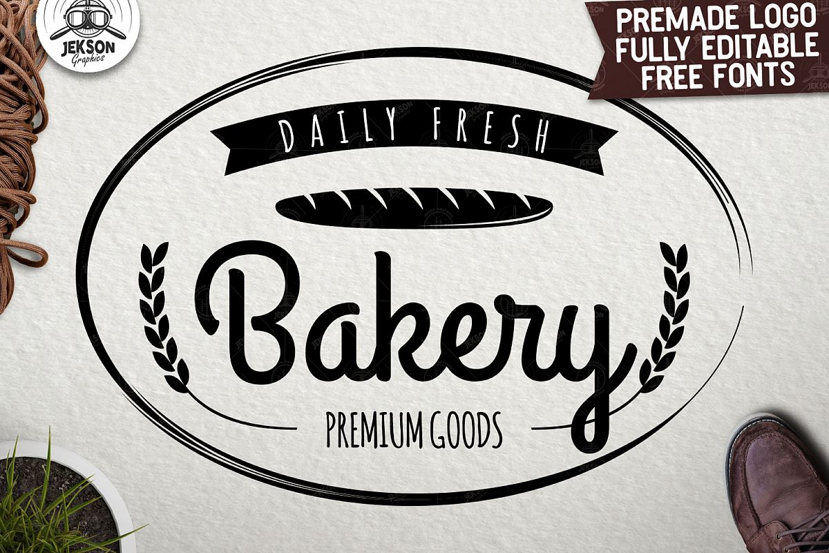 Premium bakery logo template vintage cooking badge svg file example image 1
