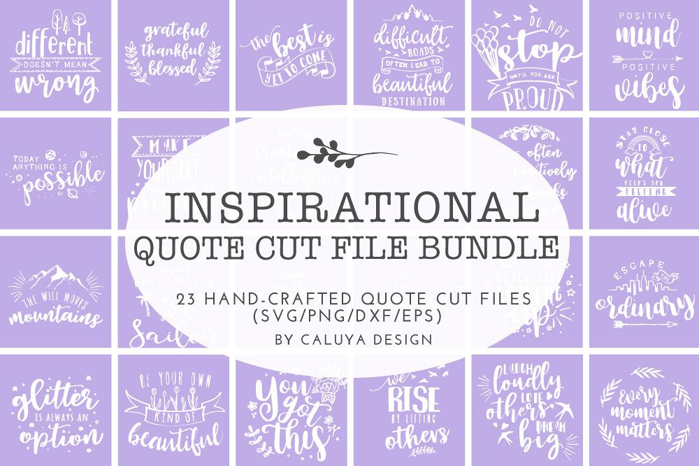 Inspirational Quote SVG Cut File Bundle example image 1