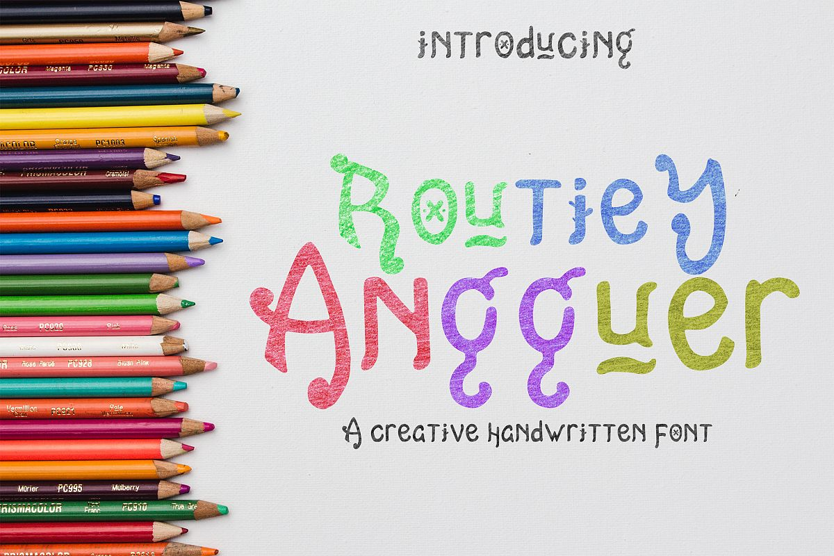 Routiey Angguer - Handwritten Font example image 1