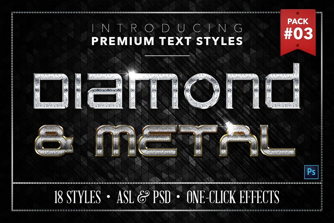Diamond & Metal #3 - 18 Text Styles example image 1