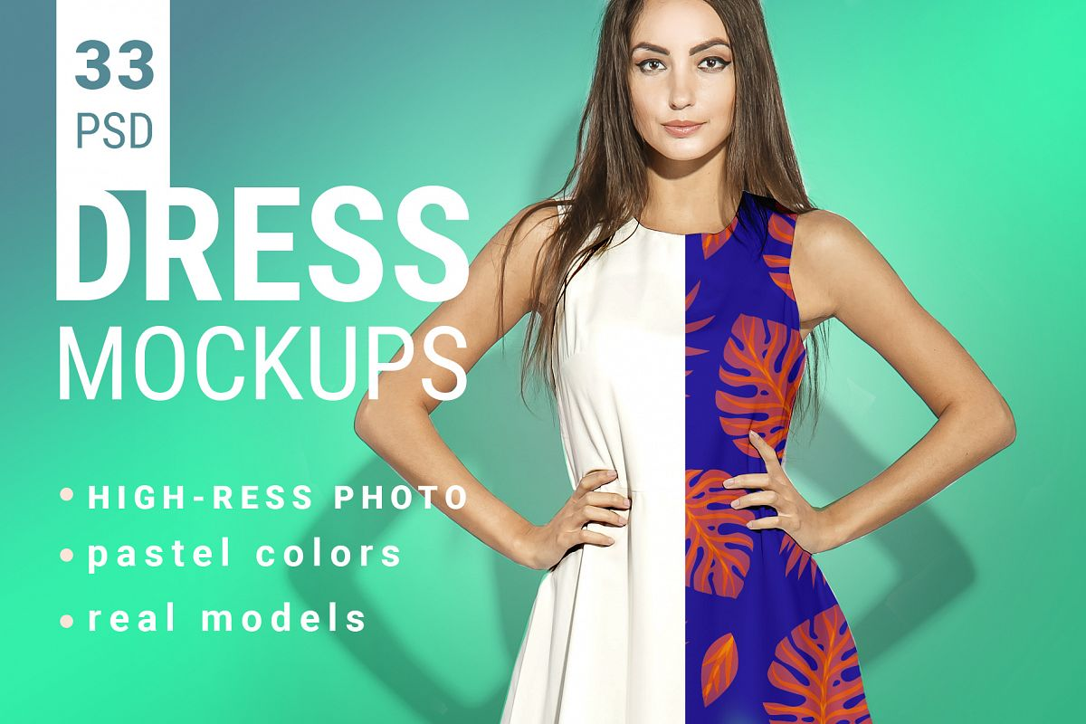 Woman's Dress Mockup Set example image 1