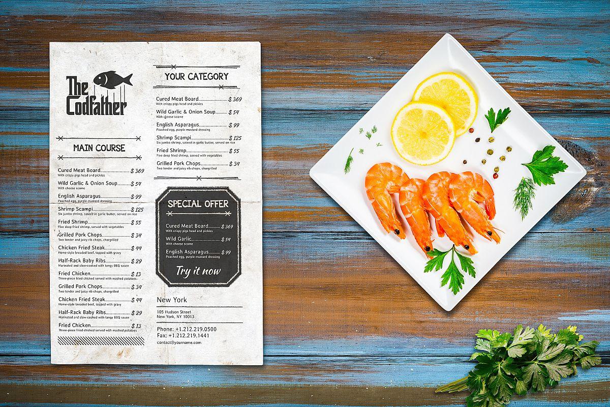 Seafood Mockup #14 example image 1