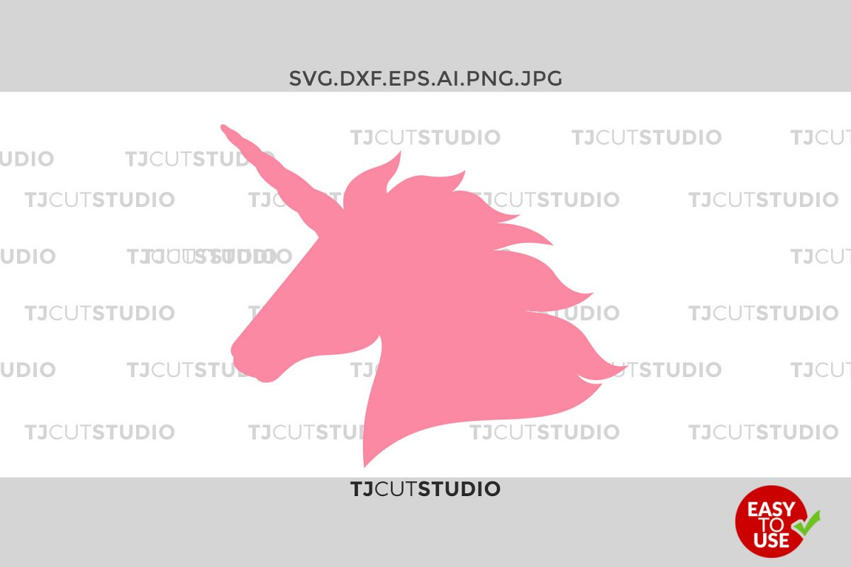 Unicorn Svg, Unicorn svg, Unicorn head svg, Unicorn birthday svg, Svg Files for Silhouette Cameo or Cricut Commercial & Personal Use. example image 1