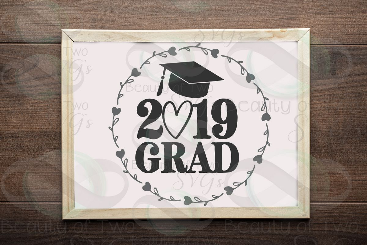 2019 Grad svg and png, 2019 Graduate svg, Graduate 2019 svg example image 1