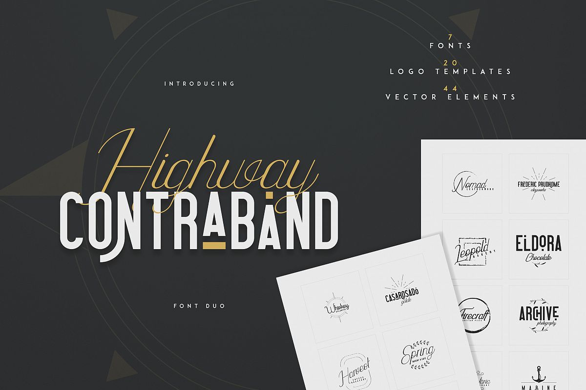 Highway Contraband - font duo More example image 1