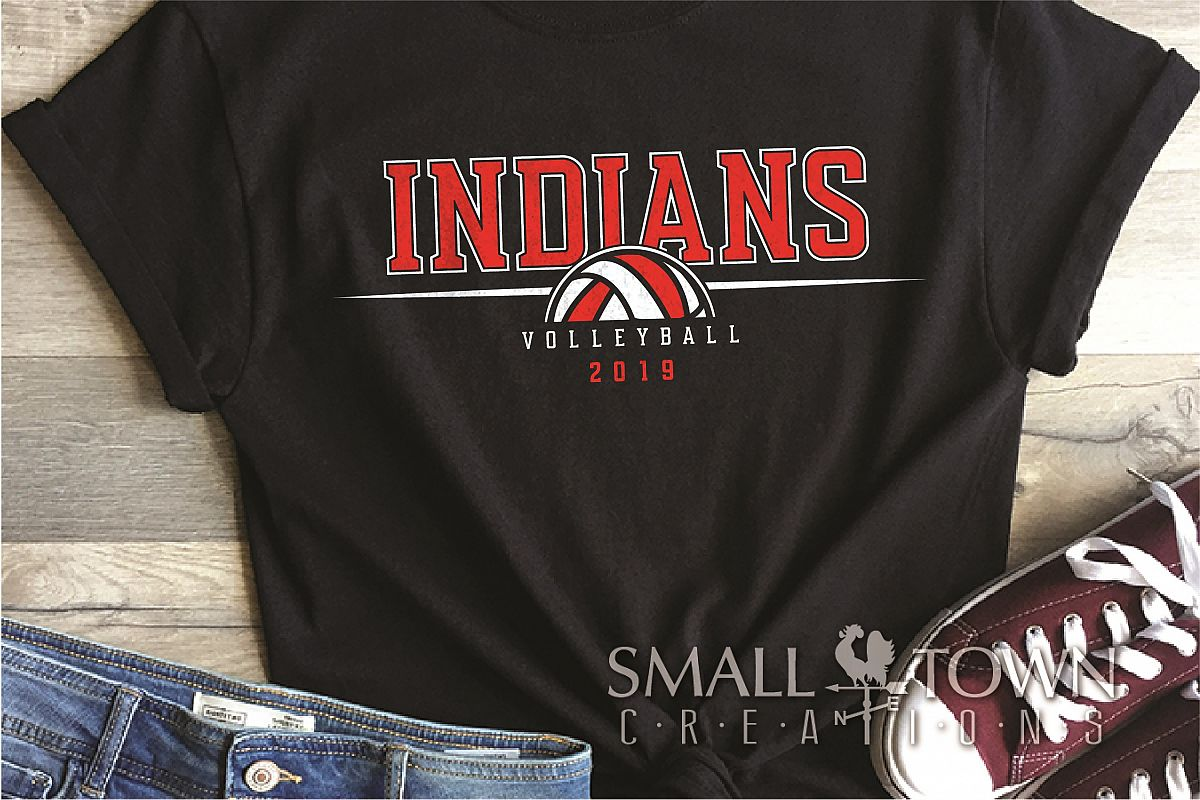 Indian, Indian volleyball, Team, logo, PRINT, CUT & DESIGN example image 1