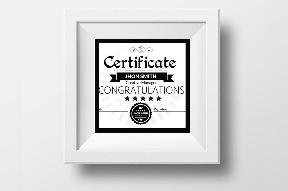 Certificate Templates example image 1