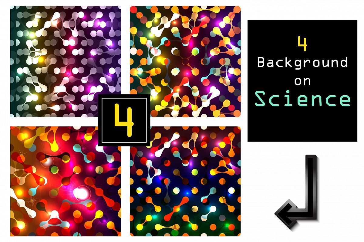 Vector glow set with DNA background. example image 1